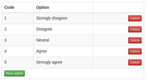 Figure 2. Answer options (Psychstudio)